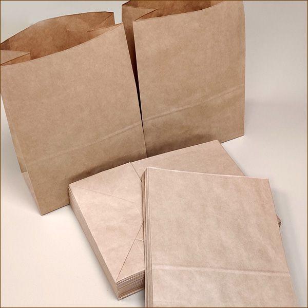 Papiertüten 22 x 12 x 31 cm 70 µ Bodenbeutel