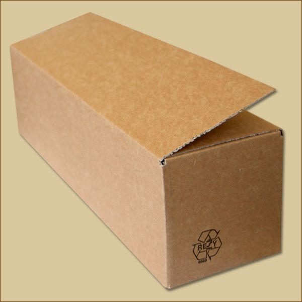 Faltkarton 415 x 115 x 115 mm Versandkarton einwellig