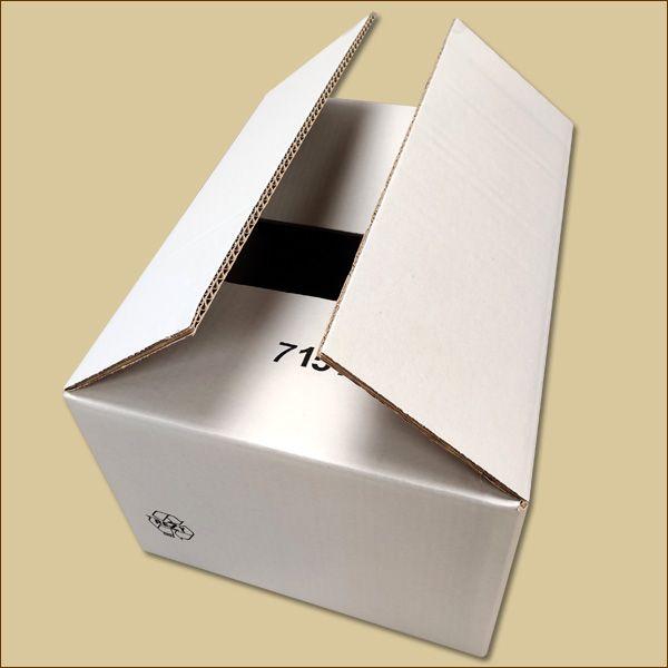 Faltkarton 380 x 280 x 210 mm Versandkarton zweiwellig weiß