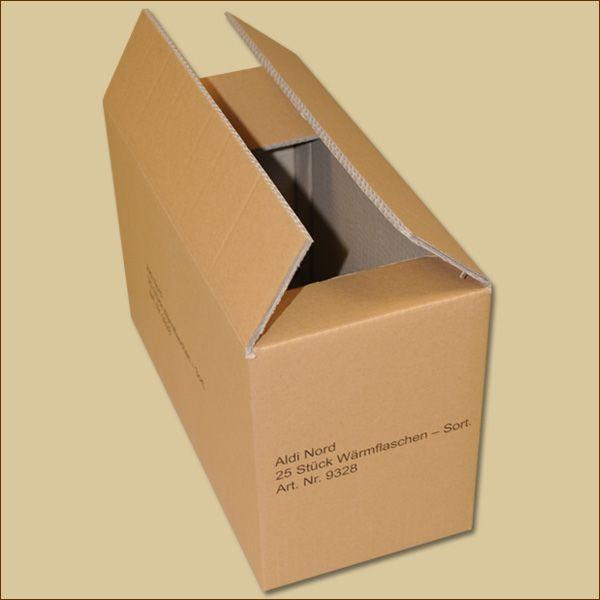 Faltkarton 388 x 176 x 236 mm Versandkarton zweiwellig bedruckt