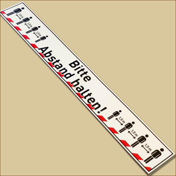 Bodenaufkleber BITTE ABSTAND HALTEN 600 x 75 mm PVC Antirutschband