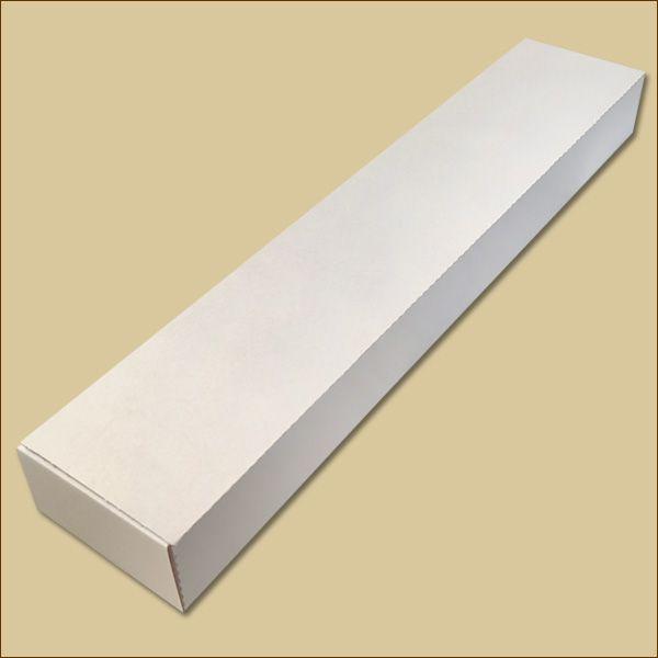 Faltschachtel 475 x 93 x 45 mm Versandschachtel weiß B-Ware