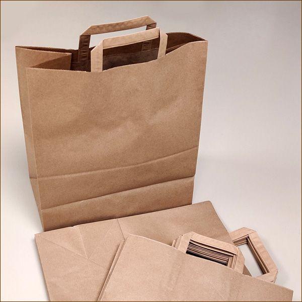 Papiertaschen 32 x 17 x 38 cm 90 µ mit Henkel Tragetasche