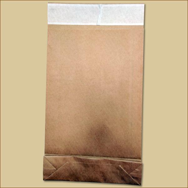 Versandbeutel Kraftpapier 190 x 50 x 300 + 50 mm Selbstklebeverschluss