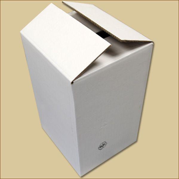Faltkarton 300 x 280 x 486 mm Versandkarton zweiwellig weiß