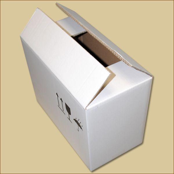 Faltkarton 370 x 190 x 268 mm Versandkarton zweiwellig weiß
