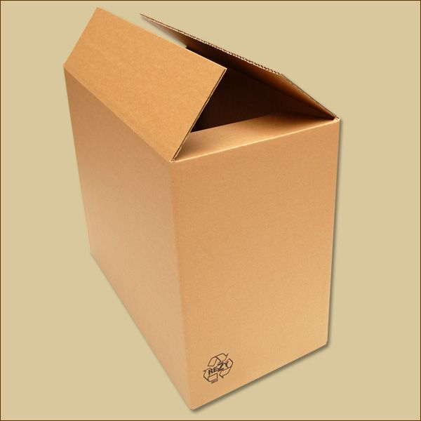 Faltkarton 490 x 250 x 400 mm Versandkarton einwellig