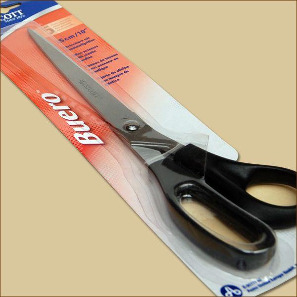Schere 25,5 cm Papierschere Bastelschere für Pappe und Papier