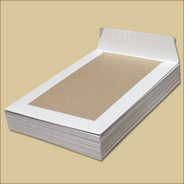Papprückwandtaschen B5 ohne Fenster weiß Versandtaschen
