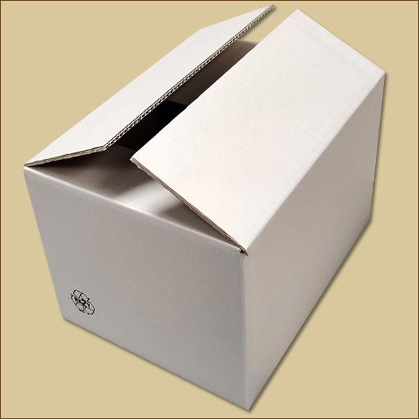 Faltkarton 380 x 280 x 240 mm Versandkarton zweiwellig weiß