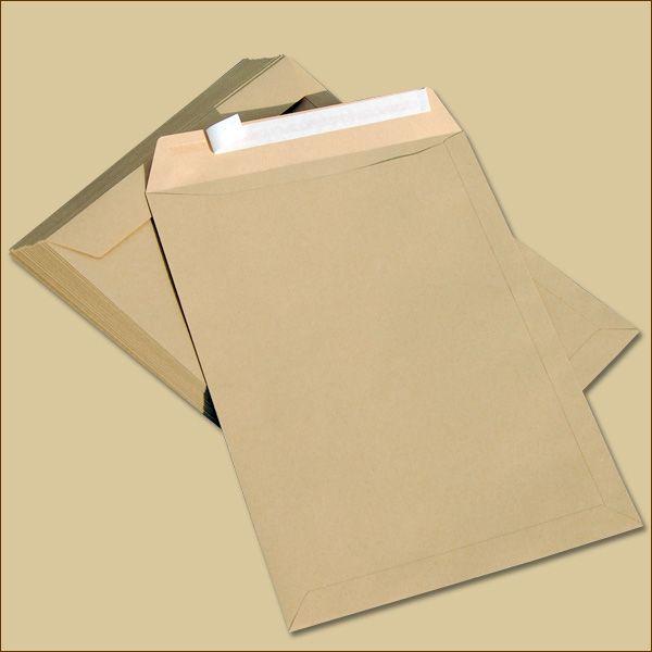 Versandtaschen C4 Haftklebung braun ohne Fenster
