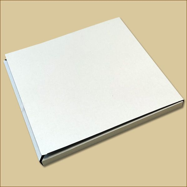 Faltschachtel 275 x 275 x 15 mm Versandschachtel einwellig weiß