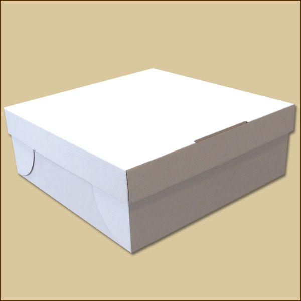 Faltschachtel 320 x 320 x 120 mm Tortenschachtel weiß B-Ware